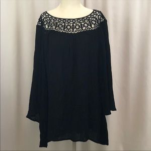 Lane Bryant tunic top navy blue size 22/24  NEW